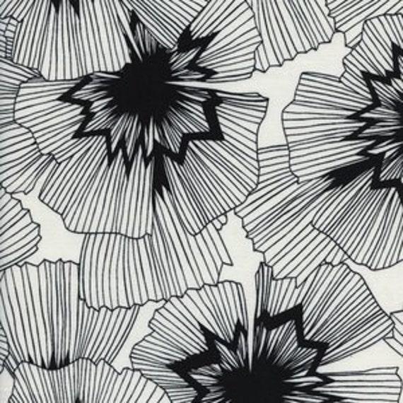 Panel Crib Skirt >> Black and White Persephone in White >>MADE-to-ORDER black and white crib skirt, floral crib bedding, modern baby bedding