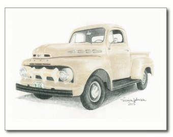 1952 Ford F-150, note cards or prints