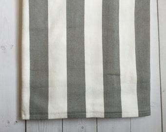 Grey and White Crib Skirt - SALE - Striped - Baby Bedding - Nursery - Ready to ship - Trendy - Crib Bedding - Crib Skirt - Gender Neutral
