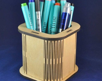 Wooden Storage Tidy: The perfect storage solution  for pens, pencils and make up brushes