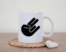 Shocker mug, adult humor, rude mug, sexual humor, inappropriate, novelty mug, mastubration, funny coffee mug, dildo mug, sarcastic mug