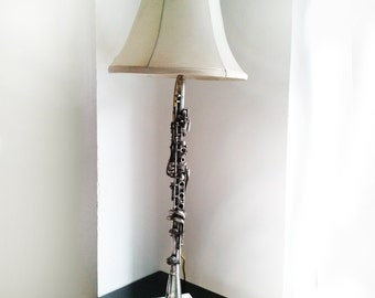 Gift For Him Vintage Lamp Clarinet Lamp Gift For Her Musical Instrument Silver Lamp Birthday Gift Vintage Clarinet Carl Fischer Boston
