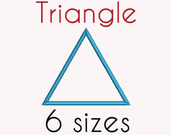 Triangle Applique Machine  Embroidery Design, 6 Sizes, Basic Shape DIGITAL INSTANT DOWNLOAD 048