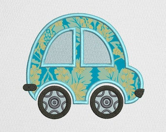 Car Applique Machine  Embroidery Design, Car Digitized Pattern, 4 Sizes, DIGITAL INSTANT DOWNLOAD 089