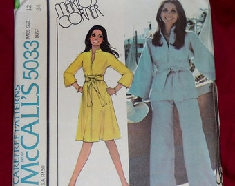 Vintage McCall's Pattern Marlo's Corner #5033 Size 12 1976