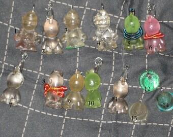Custom Clear Munny Dunny / Spray Paint Cap Resin Pendants 505 Fresh Kidrobot