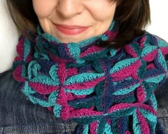 CROCHET PATTERN Scarf / Shawl, Crochet Scarf Pattern, Crochet Shawl Pattern, Scarf Pattern for Women, Women Shawl Pattern, Colorful Scarf