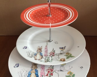 Beatrix Potter Classic Peter Rabbit 2 Tier Cakestand