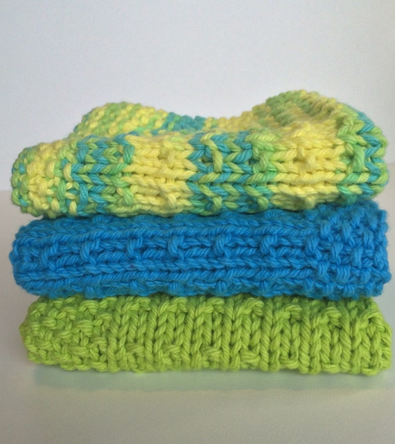 Baby Washcloths Knitting Patterns: Knit Dishcloth / Knit Washcloth / Free By LittleBlackSheepCan
