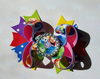 Inside Out Boutique Bow - Inside Out Hair Bow - Girls Hair Bows - Boutique Bows -  Twisted Bows
