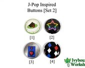 J-Pop / Vocaloid Inspired 1-Inch Pinback Buttons [Set 2]
