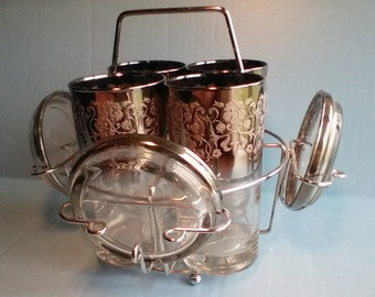 Silver Ombre fade Dorothy Thorpe barwear w/coasters n caddy