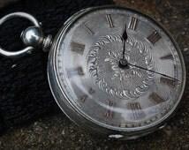 Fine Silver Muret Geneve Swiss Made Vintage Gents Pocket Watch c1930's -Superb Craftsmanship!