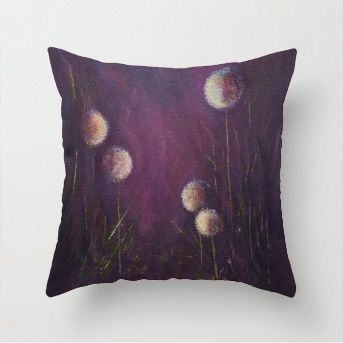 Purple pillow Eggplant purple Sofa pillow Decorative pillow