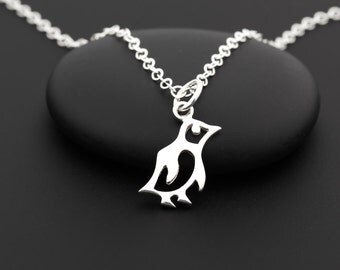 Penguin Necklace, Penguin Jewelry, Penguin Gift, Sterling Silver, Penguin Charm, Baby Penguin, Dainty Bird Necklace, Penguin Baby