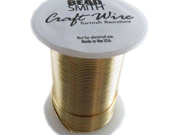 28g Gold color Beadsmith tarnish resistant craft wire