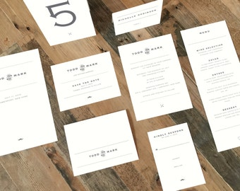 Printable Wedding Invitation Suite - Hipster