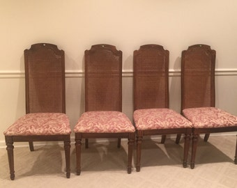 Custom Made Cane Back Chairs