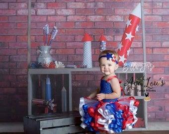4th of July Tutu Dress, 4th dress, America Tutu, American baby, fourth of July tutu dress, red white and blue tutu, special 4th july dress