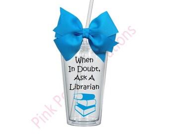 Librarian Tumbler, Librarian Gift
