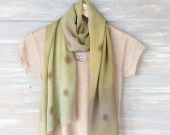 Hand painted Silk scarf,  60cmx 180cm,