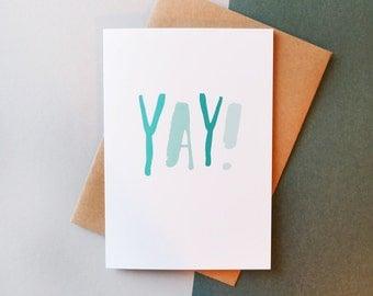 YAY // Greeting Card