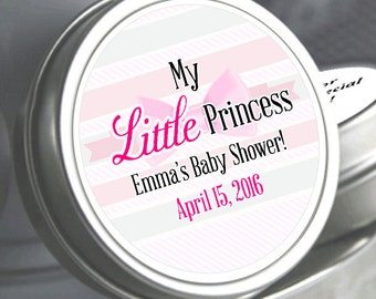 """12 My Little Princess Baby Shower Mint Tins - Need a different quantity? Click on the """"choose total"""" tab to see all pricing"""