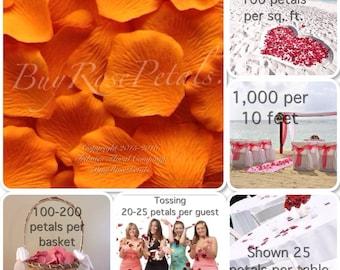 Rose Petals - Orange Silk  Rose Petals Value Pack