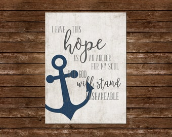 Anchor Wall Art anchor of my soul | etsy