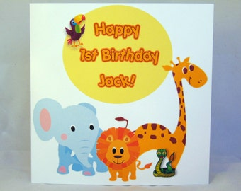 Personalised  Childrens Birthday Card- Girl/Boy Any Age