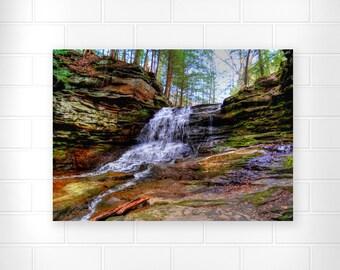 Honey Run Waterfall - Photo Print - Scenic Wall Art - Waterfall Photograph - Landscape Photo - Home Decor - Nature Photography - Scenic Art