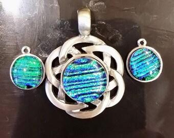 celtic knot pendant & earring set