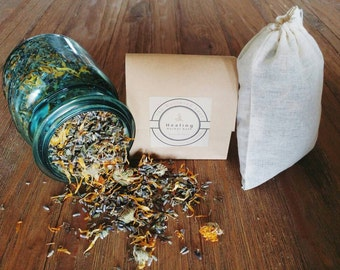 Organic Postpartum Herbal Healing Bath // New Mom Gift // Handcrafted Wellness