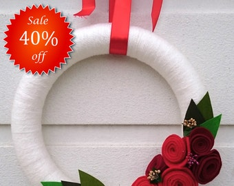 Handmade Door Wreath, Burlap Wreath, Front Door Decoration,