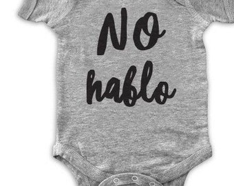No hablo funny baby onesie/ funny baby onesie/father to be/mother to be