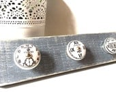 Wall Hanger for Accessories, with Antique Ceramic Knobs