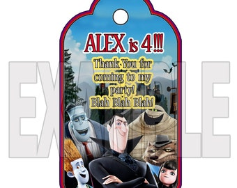 Personalized HOTEL TRANSYLVANIA Party Favor Tags - PRINTABLES with your text!