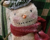 Primitive  Folk Art Stacked Snowman Winter Frosty  Hafair DTHFAAP