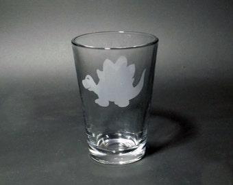 Stegosaurus Juice Glass - Dinosaur Juice Glass - Kid's Dinosaur Glass - S. stenops Glass - S. ungulatus Glass - S. sulcatus Glass