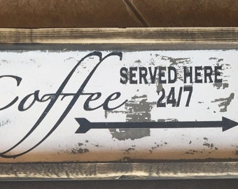 Coffee served here 24/7