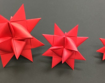 MEDIUM RED Moravian Paper Star German Frobelsterne