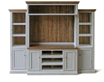 Entertainment Center, Media Console, Home Theater, Reclaimed Wood, TV Stand, Handmade