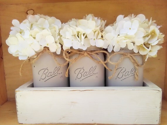 Wedding Gift Table Decor : Table Decor, New Home Gift, Wedding Gift, Mason Jar Centerpiece ...