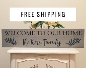 Welcome Sign - Home Decor - Housewarming Gift  - Home Sweet Home - Mother's Day Gift - Fathers Day Gift - Wooden Sign