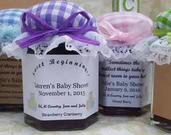 unique baby shower favors jam and jelly 25 2oz jar personalized