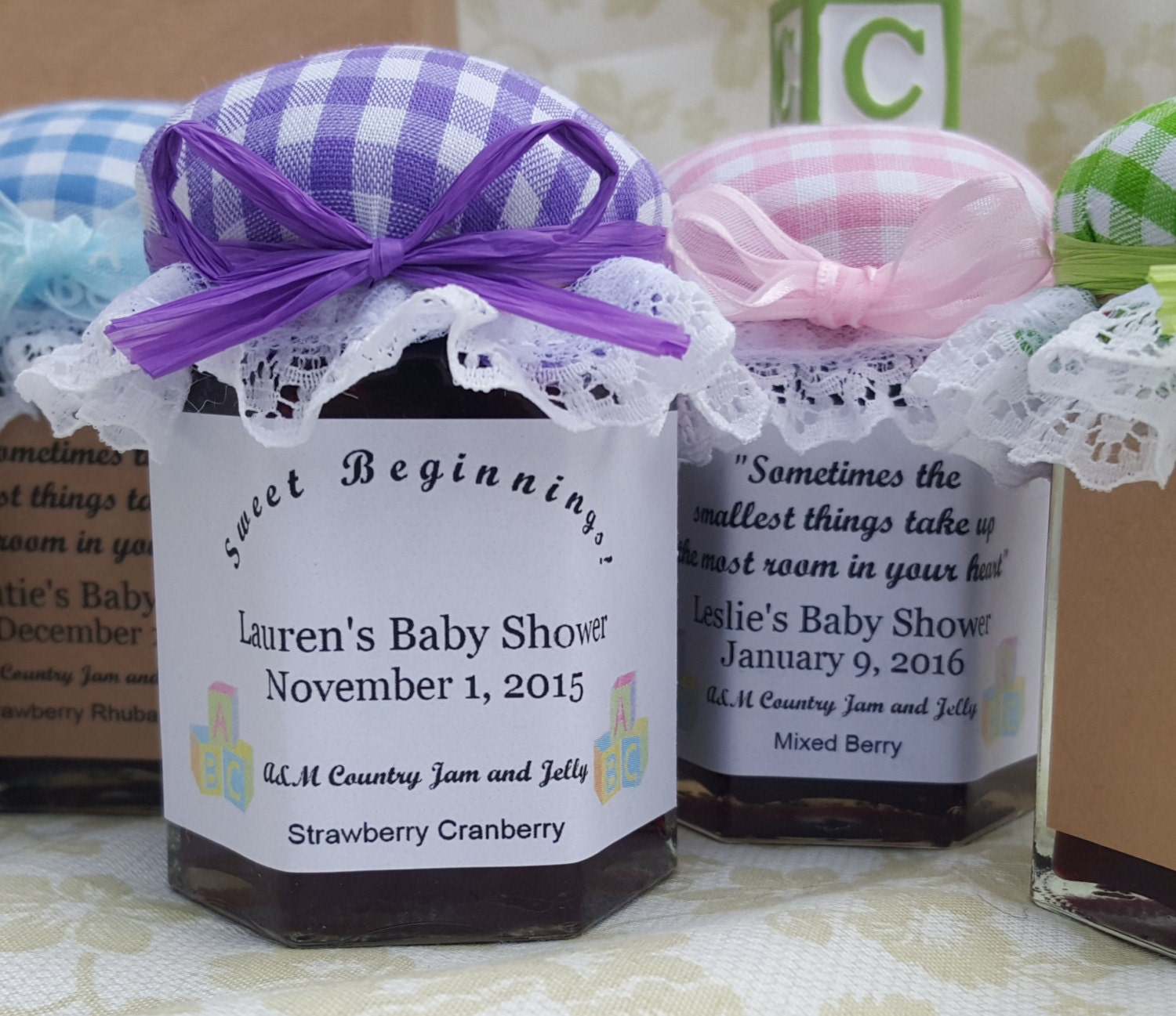 Unique Baby Shower Favors Jam And Jelly 25 2oz Jar