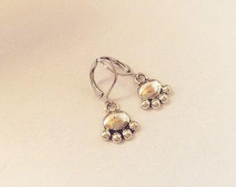 """Sweet earrings """"Paw"""" silver"""