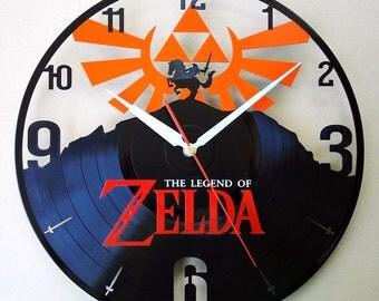 Vinyl wall clock - the legend of zelda