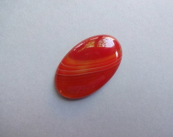Red Banded Agate oval cabochon 34x21 mm