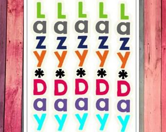Lazy Day Stickers [034]